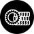 icône noir et blanche d'offre promotionnelle partenaire