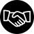 icône noir et blanche de la garantie des coûts