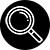 icône noir et blanche de l'analyse de la durée de vie des pneus